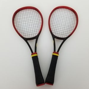 American Girl Vintage 1999 Red Tennis Rackets